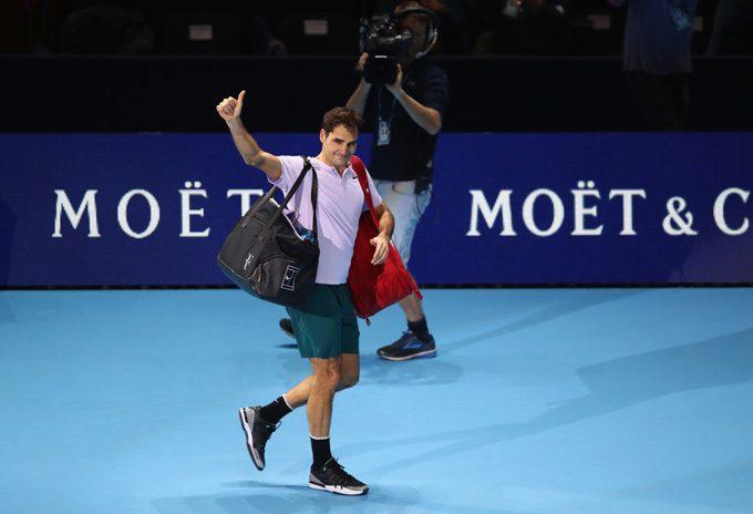 ATPファイナルズ2017準決勝でフェデラー敗退
