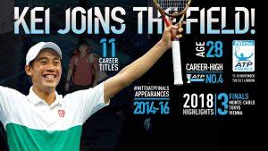 テニスの錦織圭選手「ATPファイナルズ2018」への出場が決定